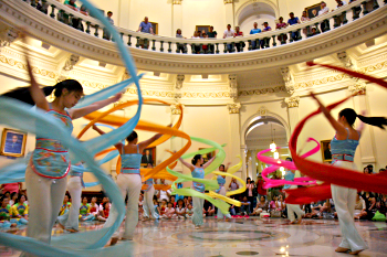 Dancers in Capitol rotunda